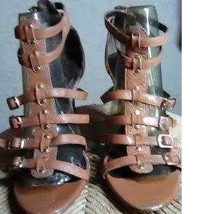 Tahari Brown Leather Stilettos